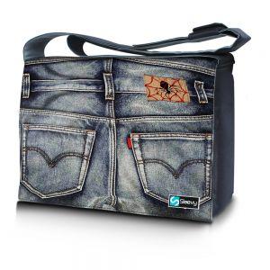 Messengertas / laptoptas 15,6 inch spijkerbroek - Sleevy