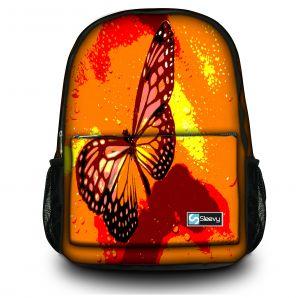 rugzak oranje vlinder Sleevy