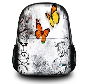 Rugzak oranje vlinders Sleevy