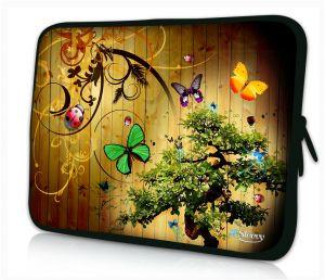 Sleevy 15 inch laptophoes vlinders