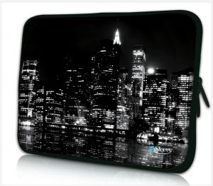 Tablet hoes / laptophoes 10,1 inch New York zwart - Sleevy